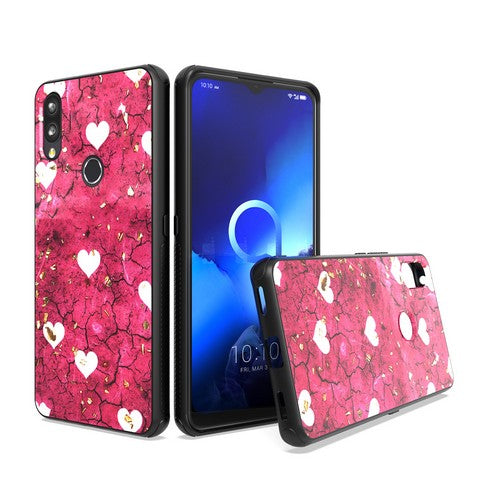Alcatel 3V (2019) - Premium Design Glitter Case - Hot Pink