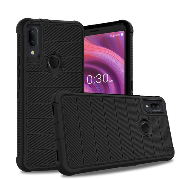 Alcatel 3V (2019) - Premium Heavy Duty Case - Black