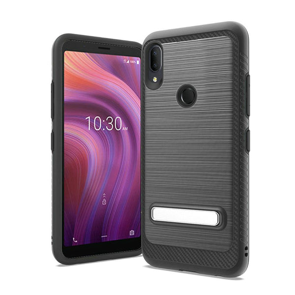 Alcatel 3V (2019) - Premium Magnetic Kickstand Case - Black