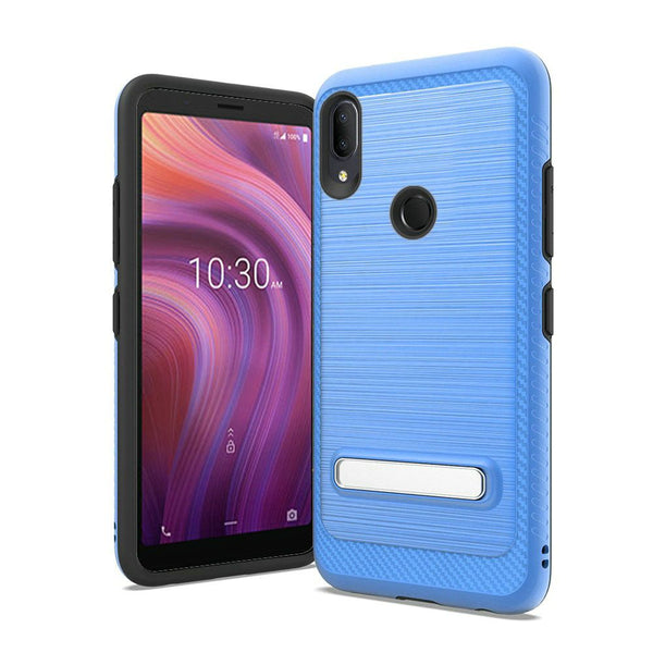 Alcatel 3V (2019) - Premium Magnetic Kickstand Case - Blue