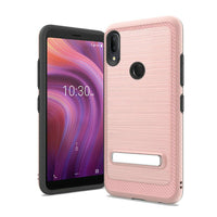 Alcatel 3V (2019) - Premium Magnetic Kickstand Case - Rose Gold