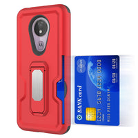 Alcatel 3V (2019) - Premium Magnetic Kickstand Case - Red