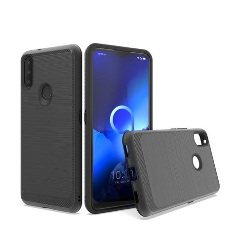 Alcatel 3V (2019) - Premium Edge Slim Case - Black