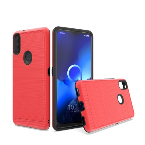 Alcatel 3V (2019) - Premium Edge Slim Case - Red
