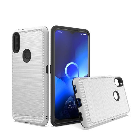 Alcatel 3V (2019) - Premium Edge Slim Case - Silver