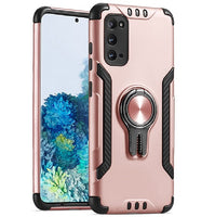 Samsung Galaxy A01 - Premium Car Holder Kickstand Case - Rose Gold
