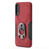 Samsung Galaxy A01 -  Premium Ring Commander Magnetic Case - Red