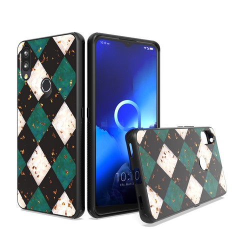 Samsung Galaxy A11 - Premium Design Glitter - Checker Green
