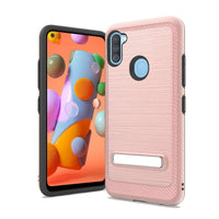 Samsung Galaxy A11 - Premium Magnetic Kickstand Case - Rose Gold
