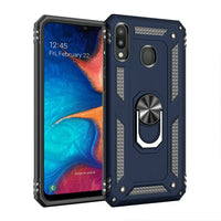 Samsung Galaxy A20 - Premium Ring Magnetic Kickstand Case - Blue