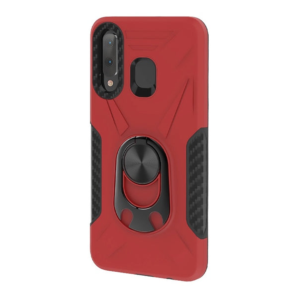 Samsung Galaxy A21 - Premium Ring Commander Magnetic Case - Red