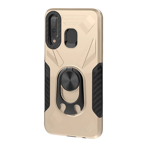Samsung Galaxy A21 - Premium Ring Commander Magnetic Case - Gold