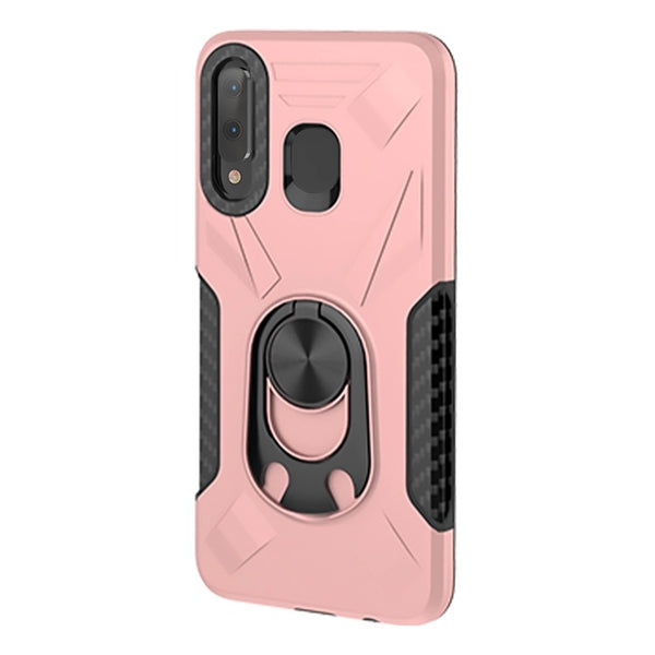 Samsung Galaxy A21 - Premium Ring Commander Magnetic Case - Rose Gold