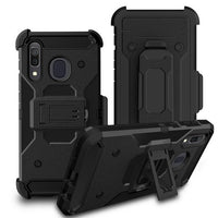 Samsung Galaxy A21 - Premium Rugged Holster Clip Case - Black