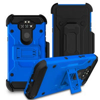LG Aristo 5 - Premium Rugged Holster Clip Case - Blue