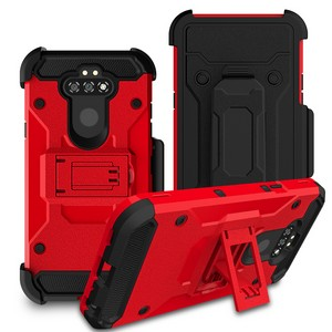 LG Aristo 5 - Premium Rugged Holster Clip Case - Red
