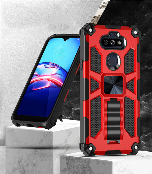 LG Arsito 5 - Premium Rugged Magnetic Kickstand Case - Red