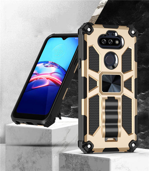 LG Arsito 5 - Premium Rugged Magnetic Kickstand Case - Gold