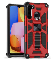 Moto E (2020) - Premium Rugged Magnetic Kickstand Case - Red