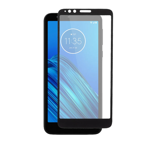 Moto E6 - Tempered Glass Screen Protector - Edge to Edge - Black