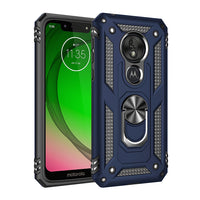 Moto G7 Play - Premium Ring Magnetic Kickstand Case - Blue
