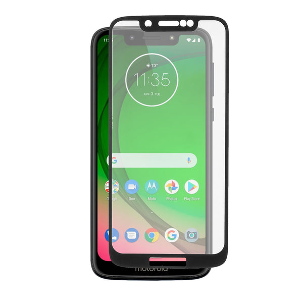 Moto G7 Play - Tempered Glass Screen Protector - Edge to Edge - Black