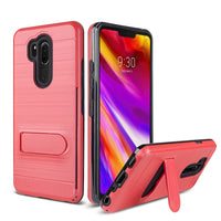 Moto G7 Power - Premium Credit Card Slim Kickstand Case - Red