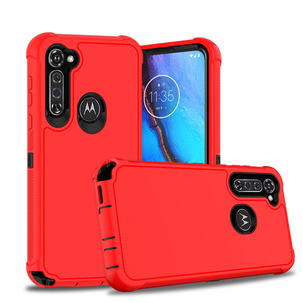 Moto G Stylus - Premium Heavy Duty Case - Red