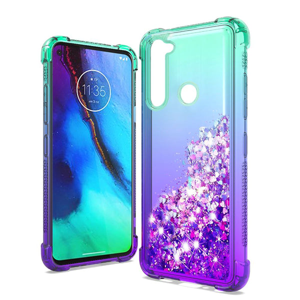 Moto G Stylus - Premium Liquid Glitter Case - Blue/Purple