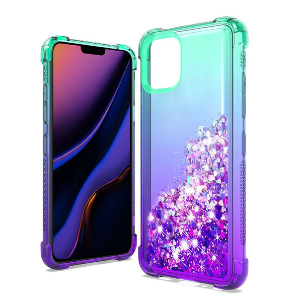 Apple iPhone 11 Pro - Premium Liquid Glitter Case - Blue/Purple