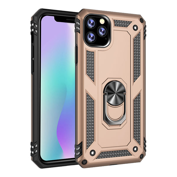 Apple iPhone 11 Pro - Premium Ring Magnetic Kickstand Case - Gold