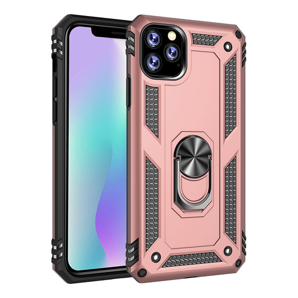 Apple iPhone 11 Pro - Premium Ring Magnetic Kickstand Case - Rose Gold