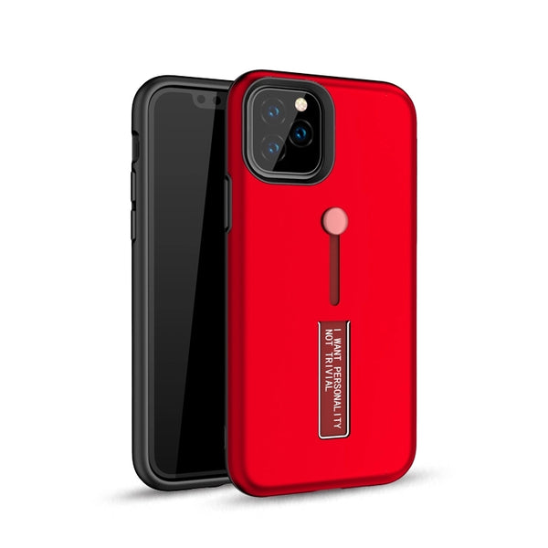 Apple iPhone 11 Pro - Premium Slide Ring Magnetic Kickstand Case - Red