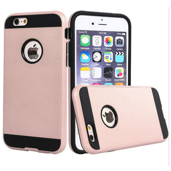 Apple iPhone 6/7/8 - Brushed Slim Case - Rose Gold