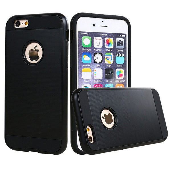 Apple iPhone 6/7/8 Plus - Brushed Slim Case - Black