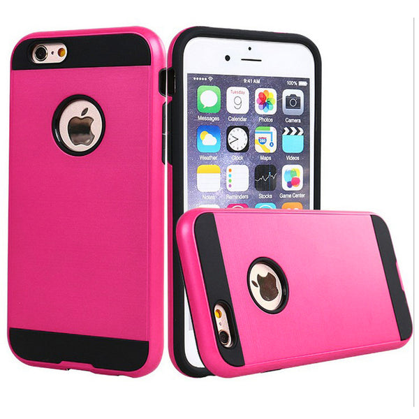 Apple iPhone 6/7/8 Plus - Brushed Slim Case - Hot Pink