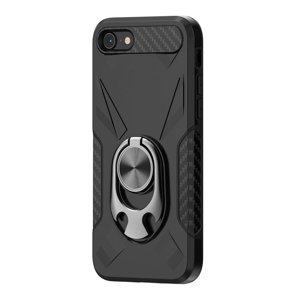 Apple iPhone SE 2020/6/7/8 - Premium Ring Commander Magnetic Case - Black