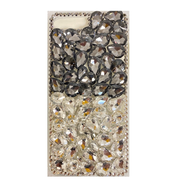Apple iPhone 6/7/8 Plus - Premium Rhinestone Case - Black/Silver