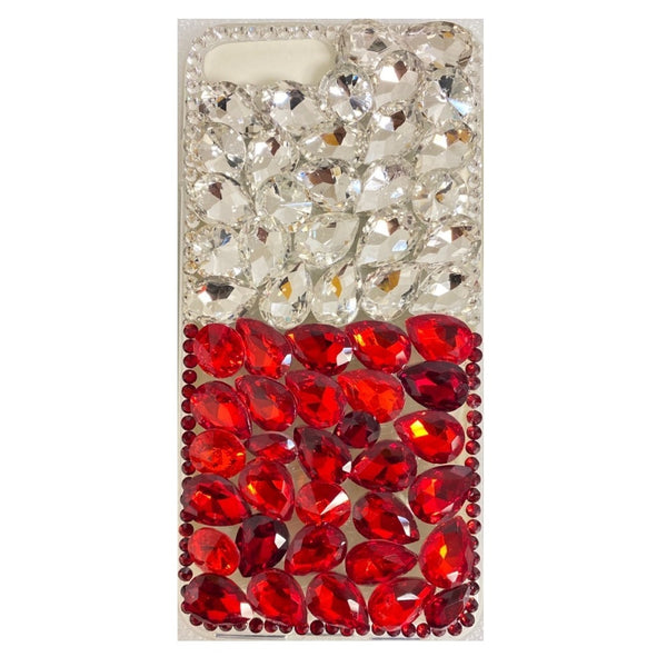 Apple iPhone 6/7/8 Plus - Premium Rhinestone Case - Red/Silver