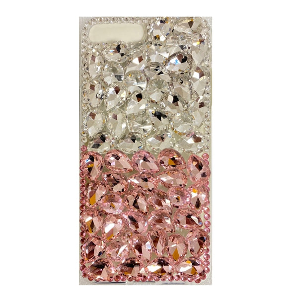 Apple iPhone 6/7/8 Plus - Premium Rhinestone Case - Pink/Silver