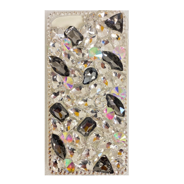 Apple iPhone 6/7/8 Plus - Premium Rhinestone Case - Black Spot