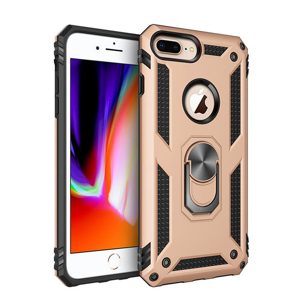 Apple iPhone 6/7/8 Plus - Premium Ring Magnetic Kickstand Case - Gold