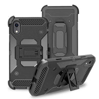 Apple iPhone XR - Premium Rugged Holster Clip Case - Black
