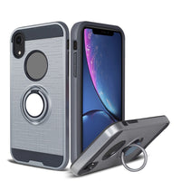 Apple iPhone XR - Ring Magnetic Kickstand Case - Gray