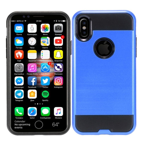 Apple iPhone XS - Brushed Slim Case - Blue