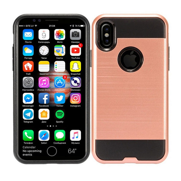 Apple iPhone XS - Brushed Slim Case - Rose Gold