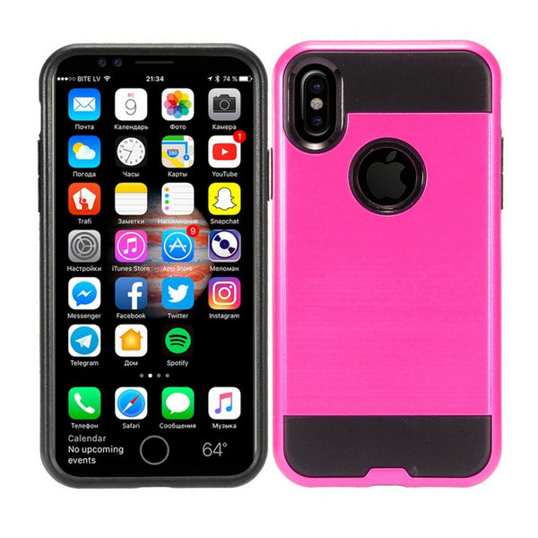Apple iPhone XS - Brushed Slim Case - Hot Pink