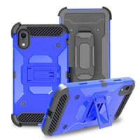 Apple iPhone XS - Premium Rugged Holster Clip Case - Blue