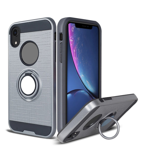 Apple iPhone XS - Ring Magnetic Kickstand Case - Gray
