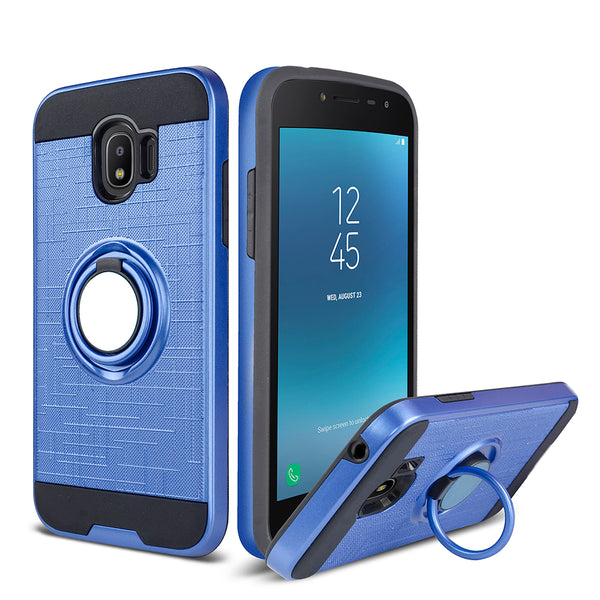 Samsung Galaxy J2 - Ring Magnetic Kickstand Case - Blue